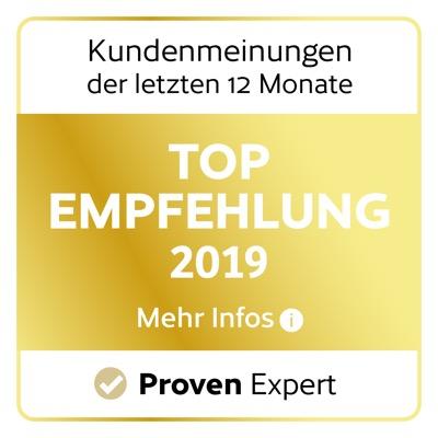 Provenexpert Logo für die Top Empfehlung 2019