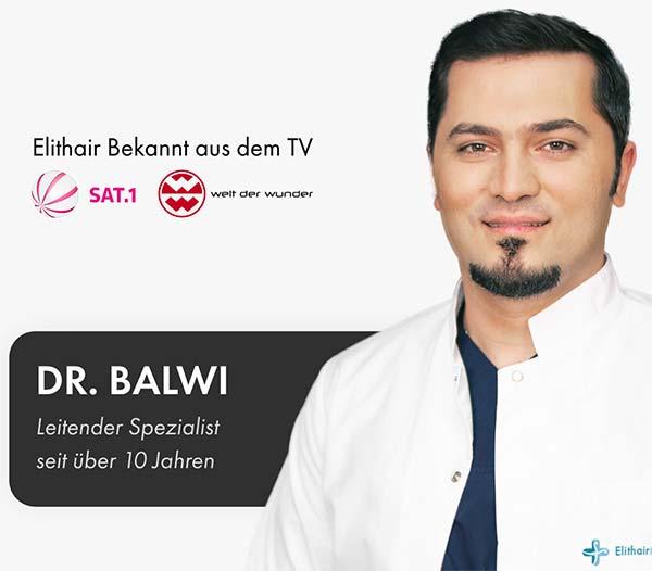 Dr. Balwi ist Experte für Haartransplantation in der Türkei