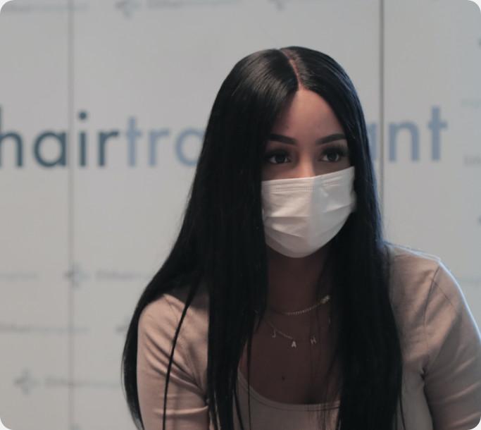 Patientin vor der Behandlung bei Elithair
