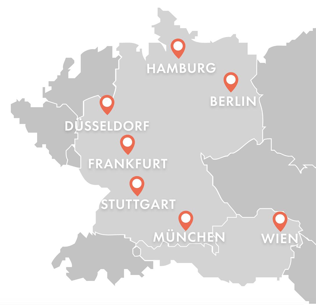 Haarpigmentierungsstandorte in Deutschland & Österreich