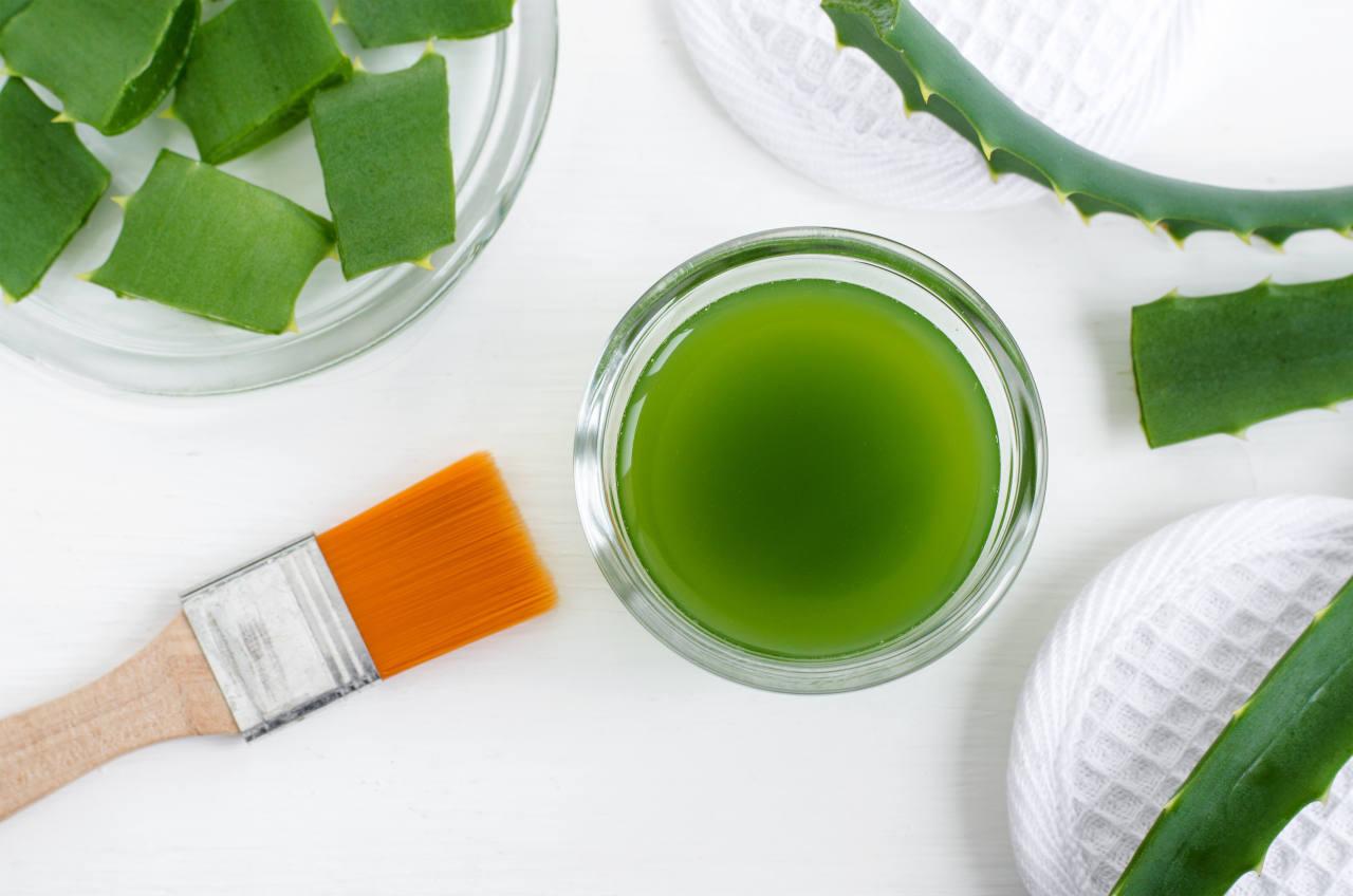 Même consommé en jus, l'aloe vera peut ralentir la chute de cheveux androgénétique