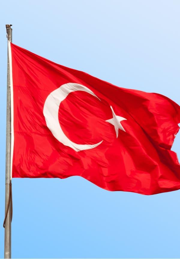 drapeau Turc illustrant un contenu explicatif sur les prix bas des greffes de cheveux en Turquie