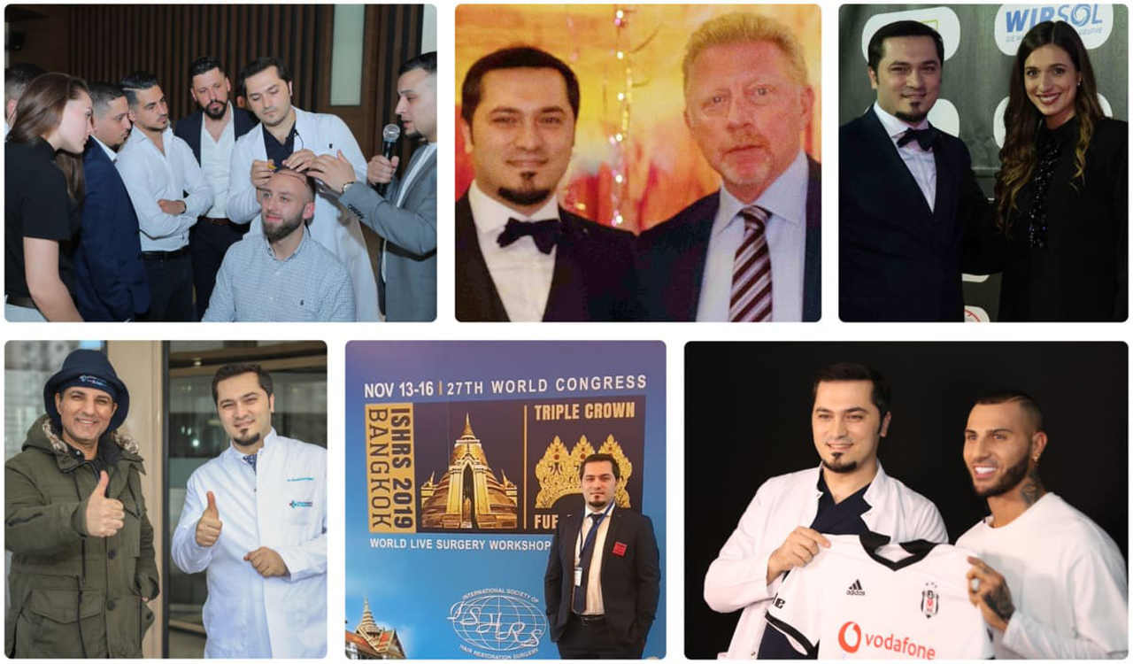 Collection de photos du Dr Balwi avec des célébrités