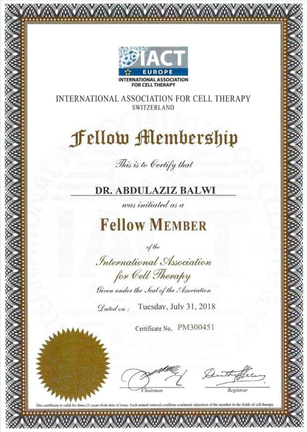 Certificat d'adhésion Elithair IA/CT Sulza