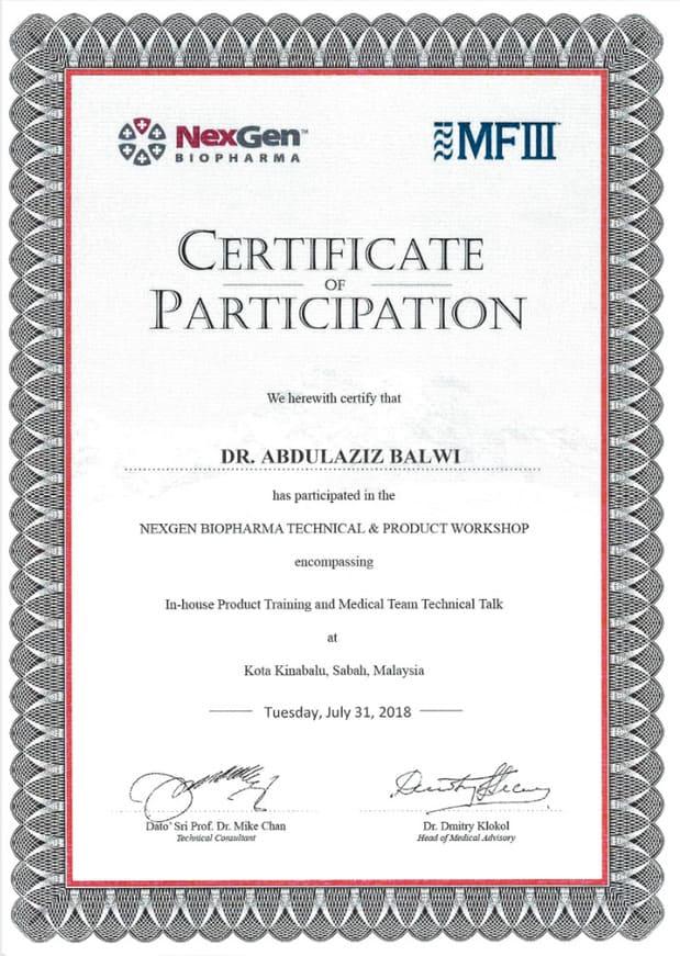 Certificat Elithair pour la conférence Nexgen Biopharma