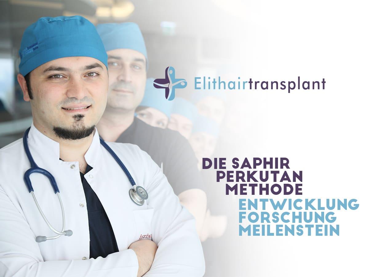 FUE Saphir Haartransplantation - Balwi-Spahir-perkutan
