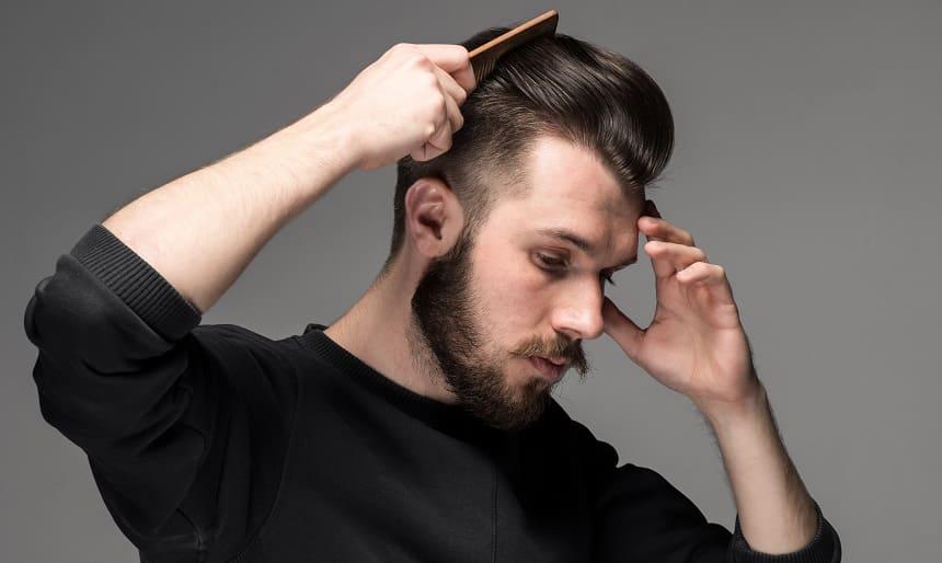 Einseitiger Haarausfall beim jungen Mann Geheimratsecken