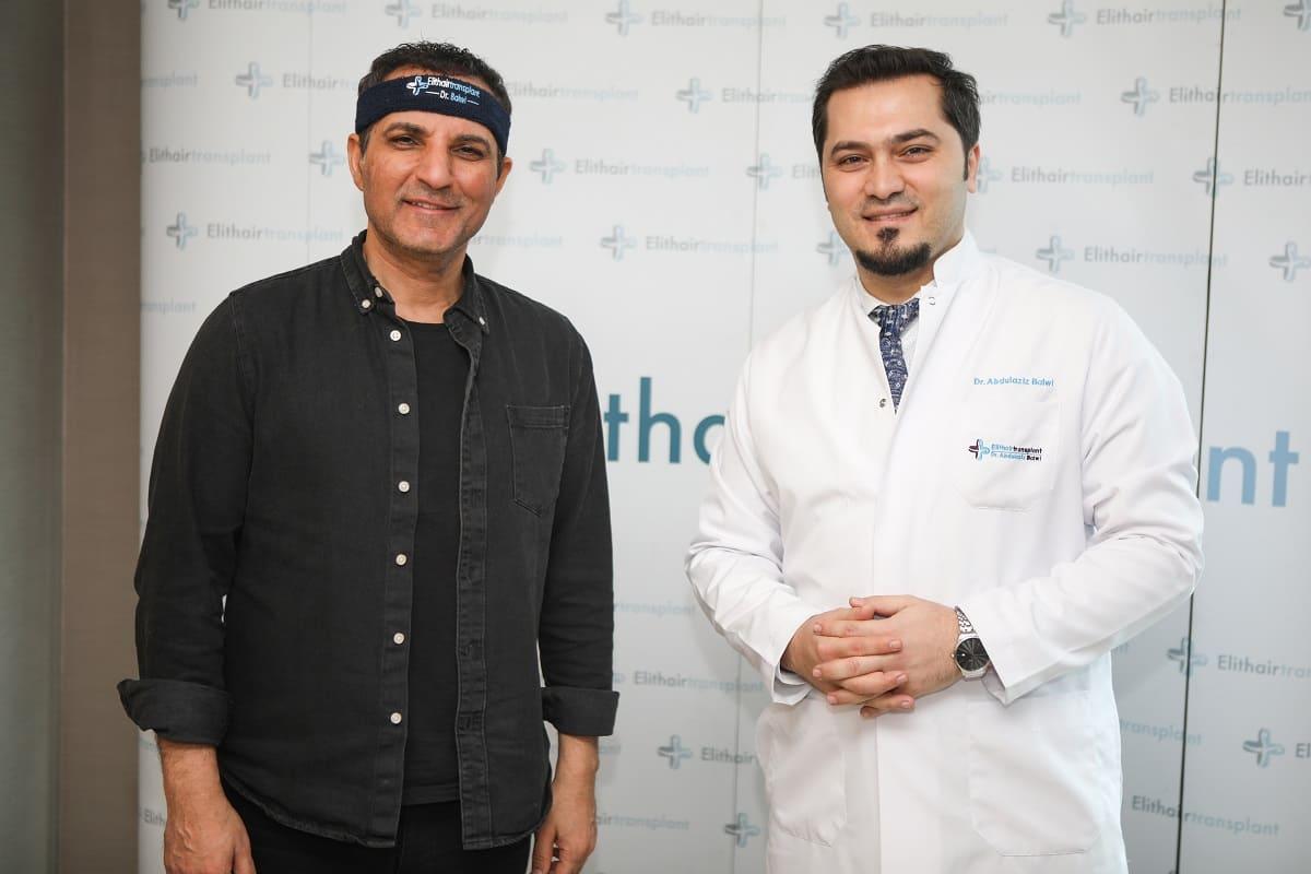 Rafet El Roman hat eine Haartransplantation bei Dr. Balwi durchfürhen lassen.