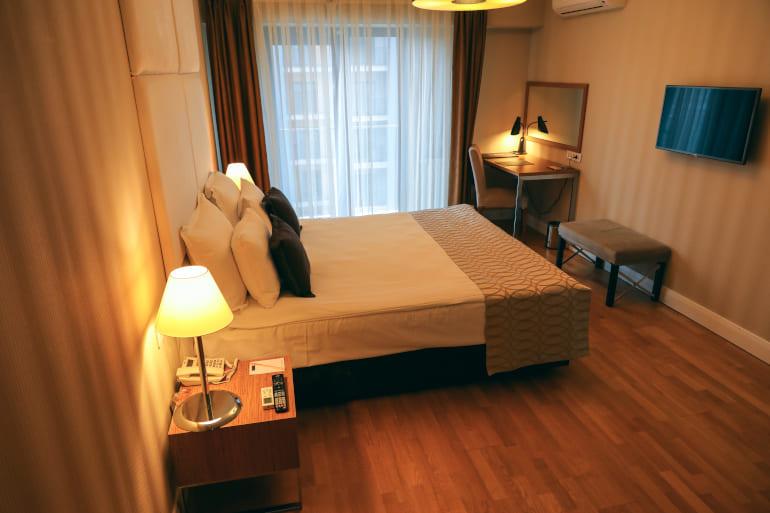 Habitación de hotel en Turquía durante la crisis del coronavirus
