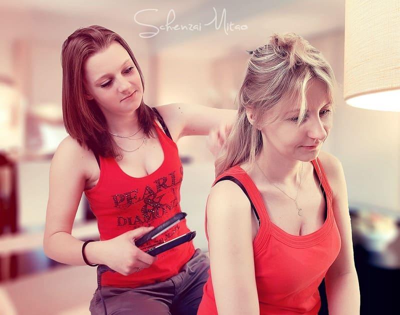 Perücken und Haareinsätzen - Haarpflege