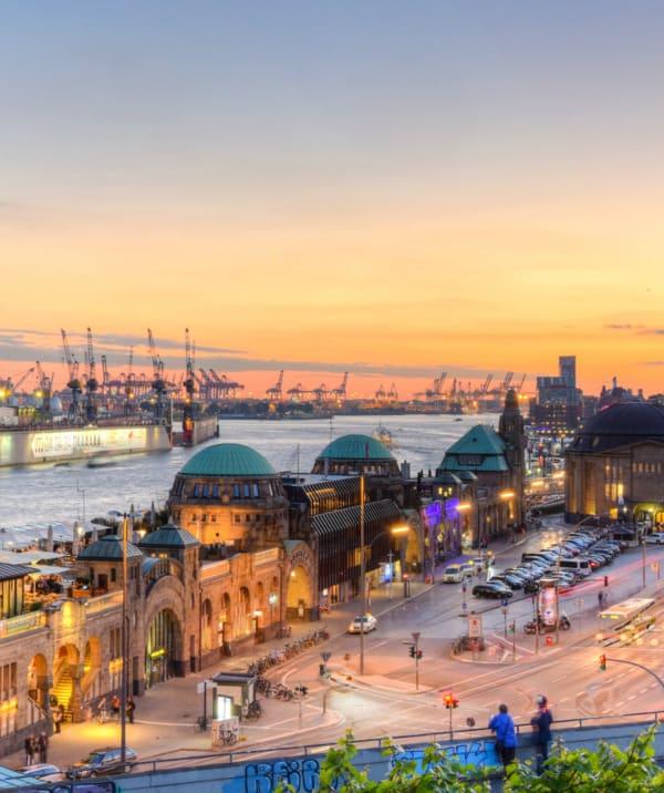 Der Blick über die Stadt Hamburg
