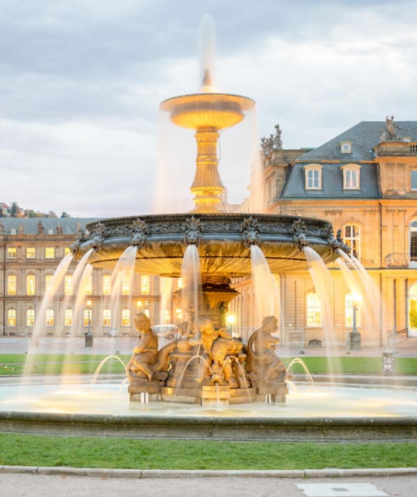 Ein Brunnen in Stuttgart