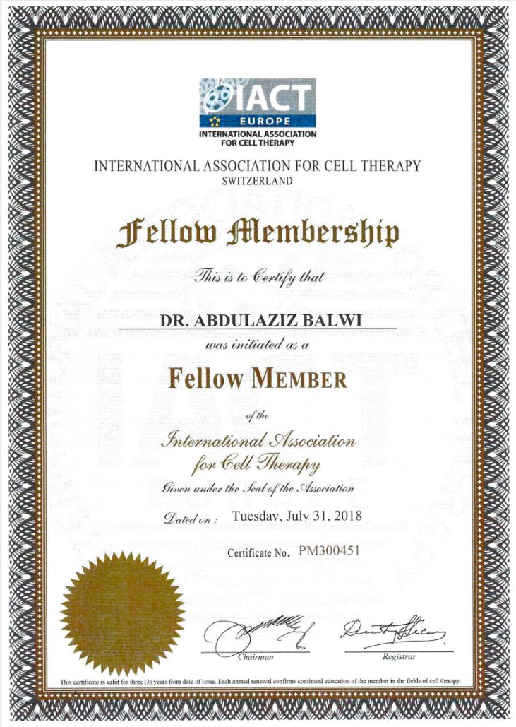 Elithair Zertifikat zur Mitgliedschaft IACT Sulza