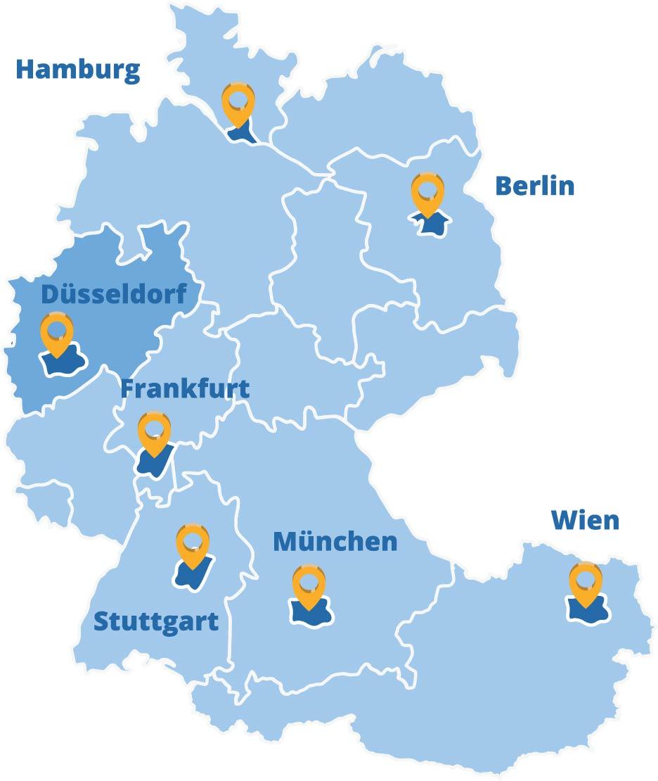 Der Elithair Standort Düsseldorf in der DACH-Region