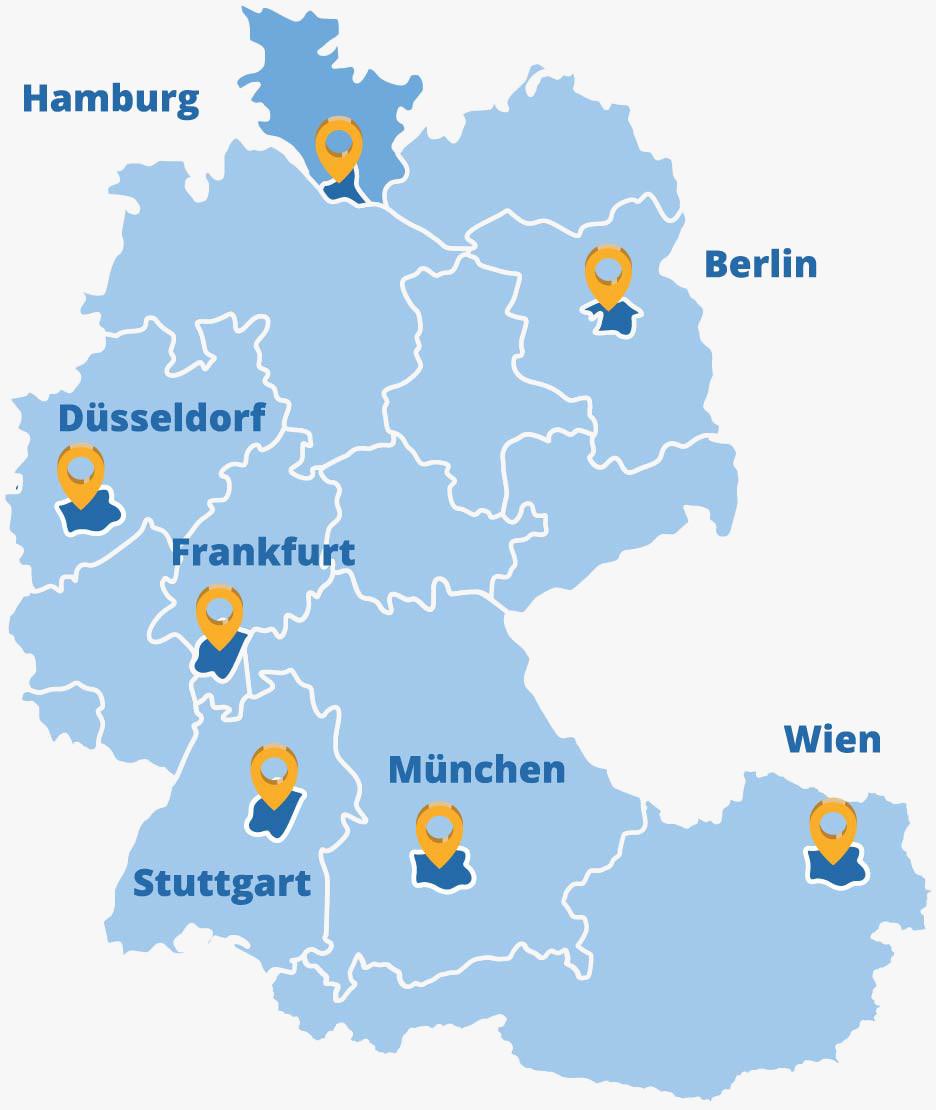 Der Elithair Standort Hamburg in der DACH-Region