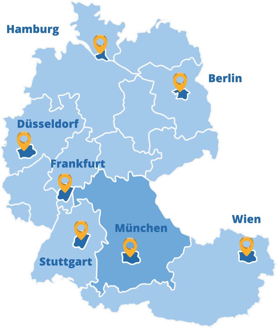 Der Elithair Standort München in der DACH-Region