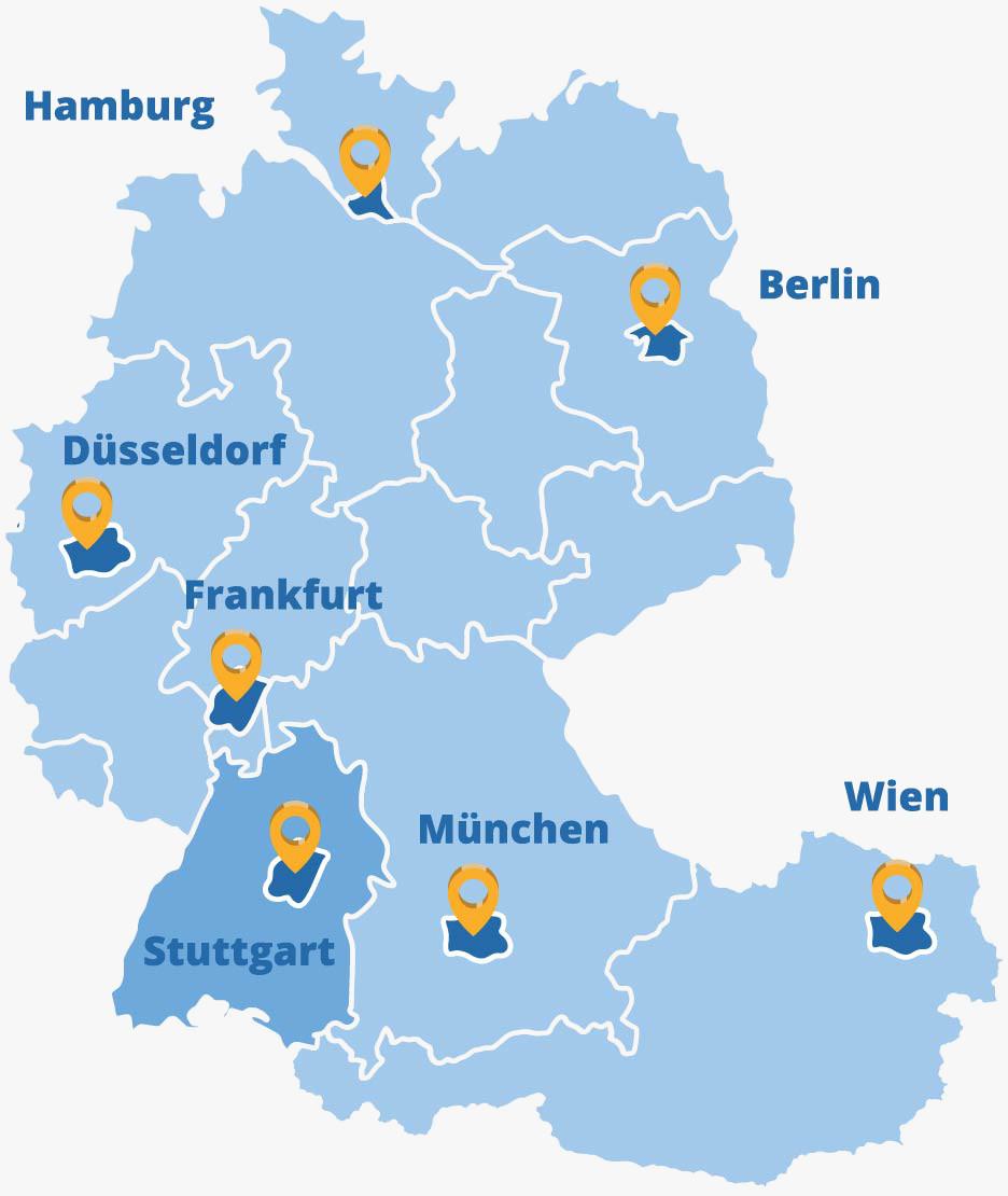 Der Elithair Standort Stuttgart in der DACH-Region