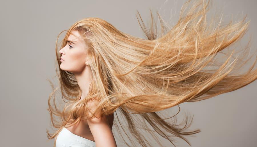 Frau schöne Haare