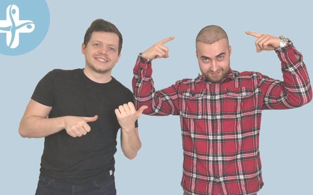 Gewinner einer Bart- und Haartransplantation