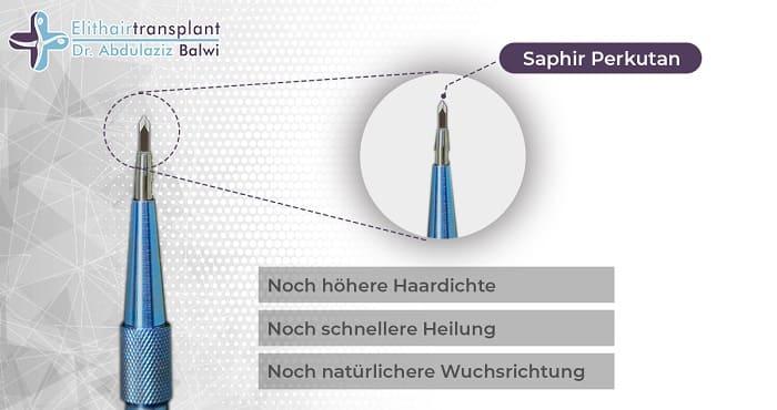 Haartransplantation Verdichtung -Saphir Perkutan ELit