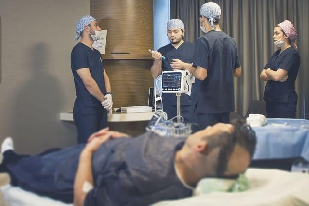 Ablauf bei der Haartransplantation Betäubung