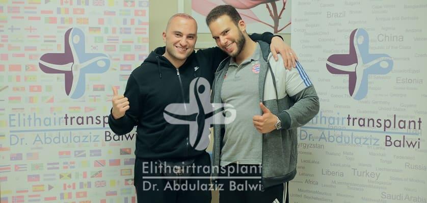 Zwei Patienten bei Elithairtransplant