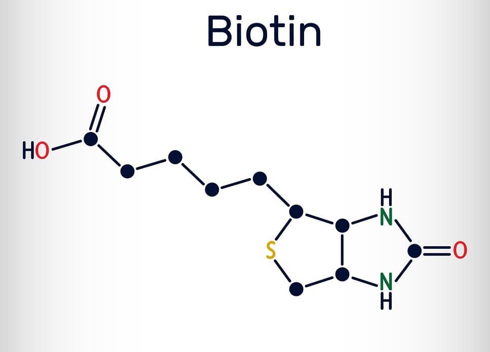 Die chemische Formel von Biotin
