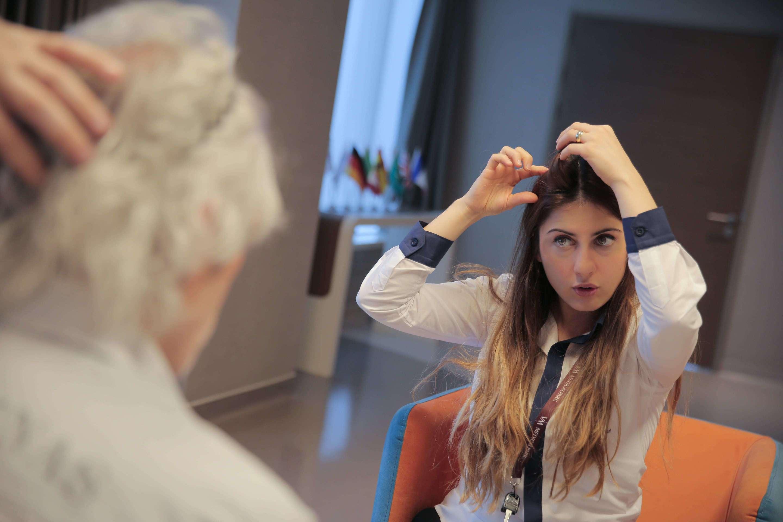 Colloquio pre operatorio con il Dr Balwi per trapianto capelli in Turchia