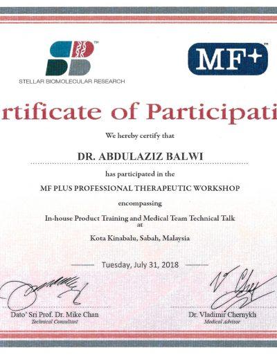 Stellar Biomolecular Research Certificate of Participation