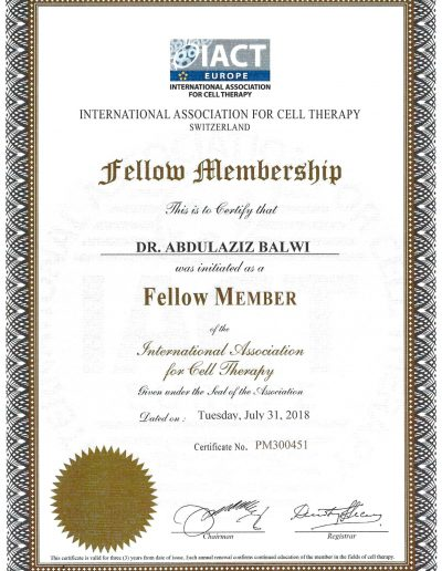 International Association for Cell Therapy Switzerland