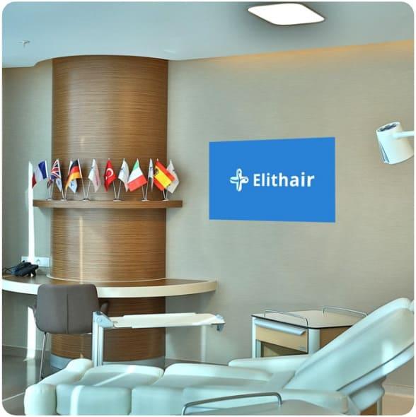 Uma sala de operações na clínica Elithair onde são realizados transplantes capilares