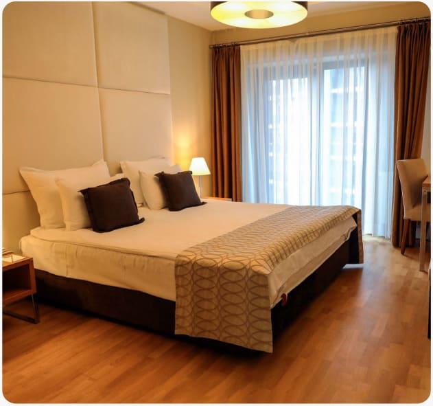 Quarto de hotel de luxo incluído no pacote Elithair