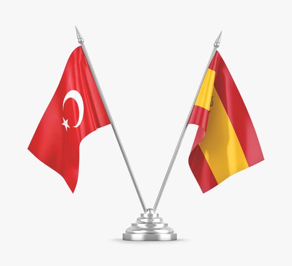 Banderas España y Turquía
