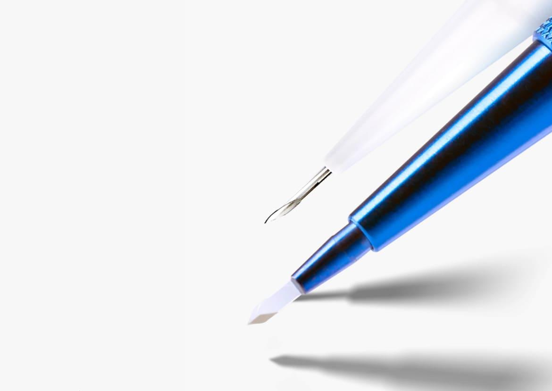Punta de zafiro y lápiz choi utilizados para el injerto capilar SDHI