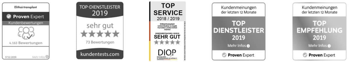 Certificado como Prueba de clientes de Elithair como mejor proveedor de servicios