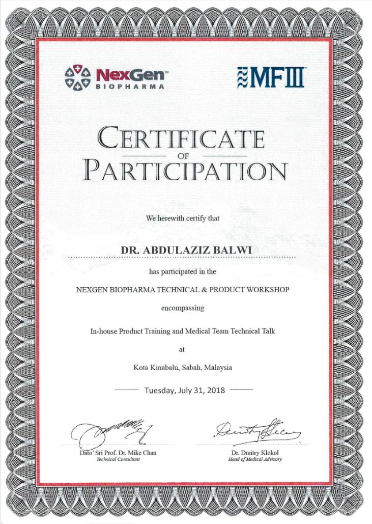 Elithair certificado de la conferencia Nexgen Biopharma