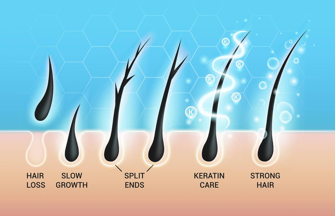 how does keratin repair damaged hair